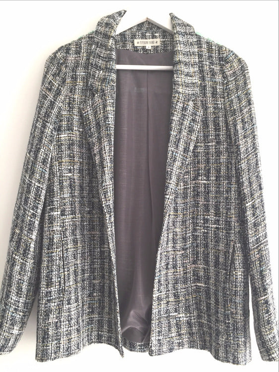 Blazer Black & Mint Paillete