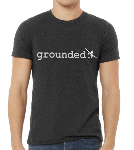 grounded. - Unisex Short Sleeve Shirt - Dark Heather