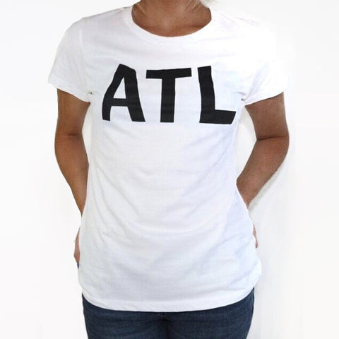 ATL - SS White Ladies T-Shirt