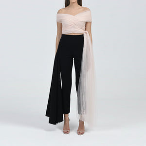 Off-Shoulder Tulle Top