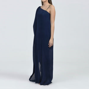Pleated Chiffon Dress Kaftan
