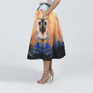 Wael Volume Midi Skirt