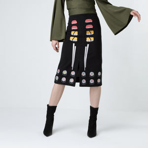 Embroidered Sushi Skirt