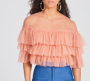 Layered Coral Mesh Top