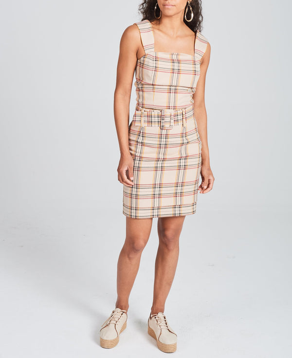 Checked Double Layer Skirt