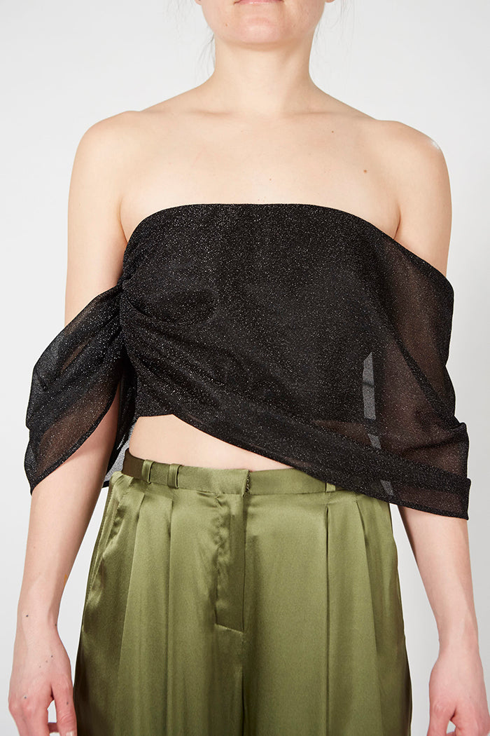 Shimmer Draped Top