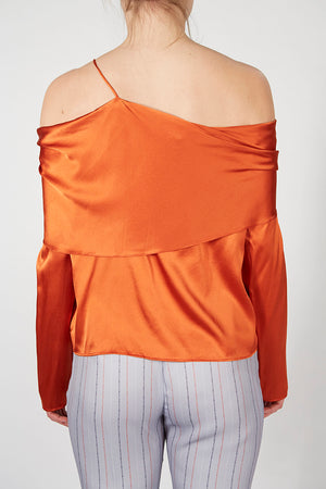 Silk Drape Detail Top
