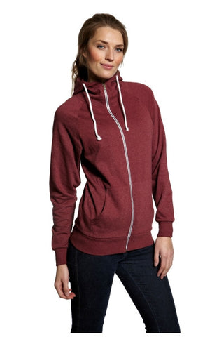 MIAMI HOODED ZIP SWEAT - WOMAN