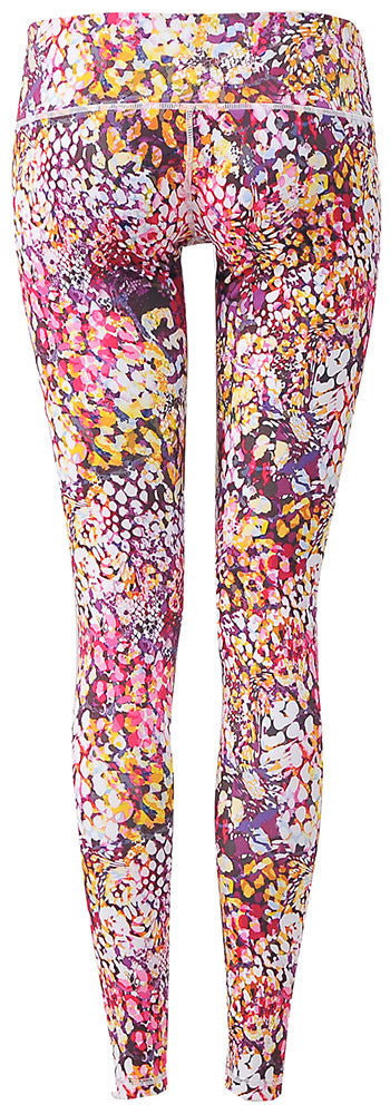 Pattern Legging : Wild Cat Violet Gold (Low-rise)