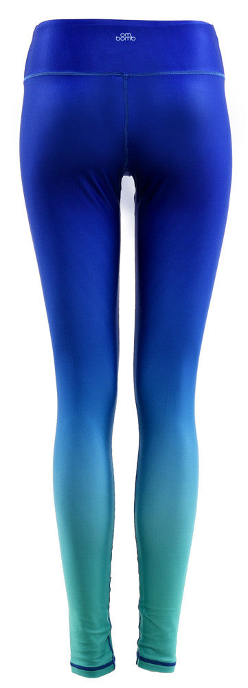 Pattern Legging : Gradient Blue Mint (High-rise)