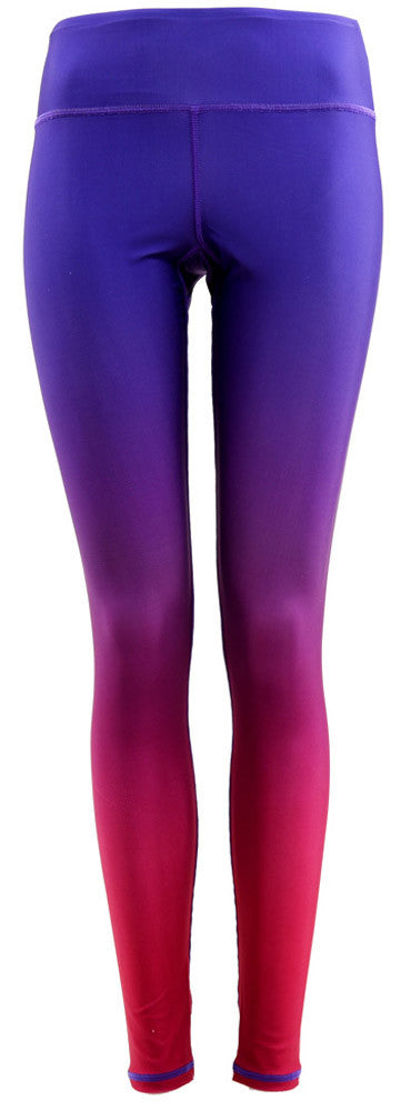 Pattern Legging : Gradient Purple Maroon (High-rise)