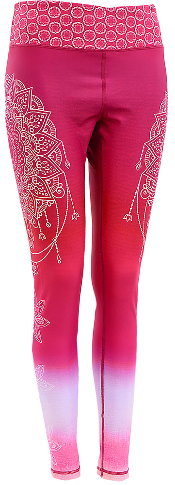 Watercolor Art Legging : Mandala Maroon Gradient (High-rise)