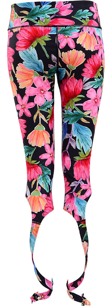 Watercolor Art Legging : Crop Ribbon Party Night (High-rise)