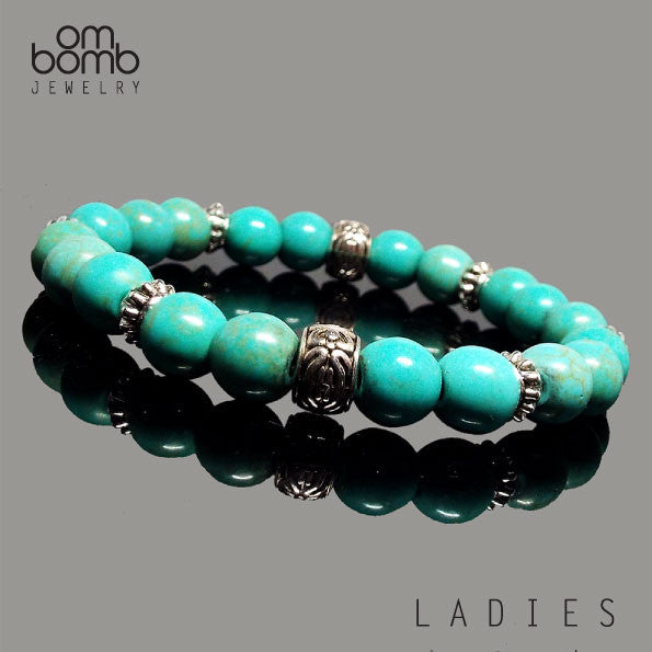 Gemstone Jewelry : Bracelet - Turquoise (Available Men's & Ladie's size)