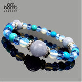 Gemstone Jewelry : Bracelet - Aquamarine Ocean Blue