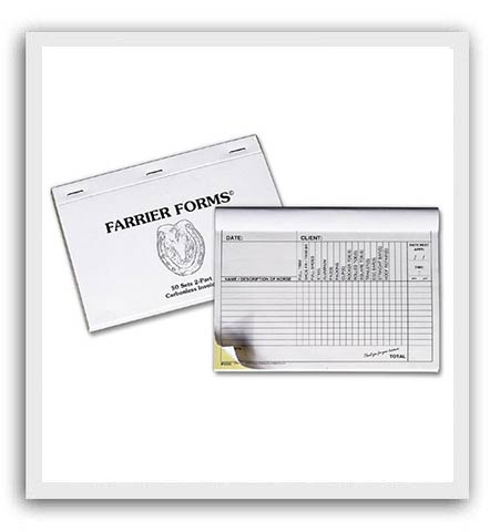 Farrier Invoicing Supplies