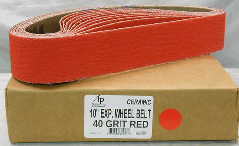 "10"" Ceramic 40 grit Expander Wheel Belt"