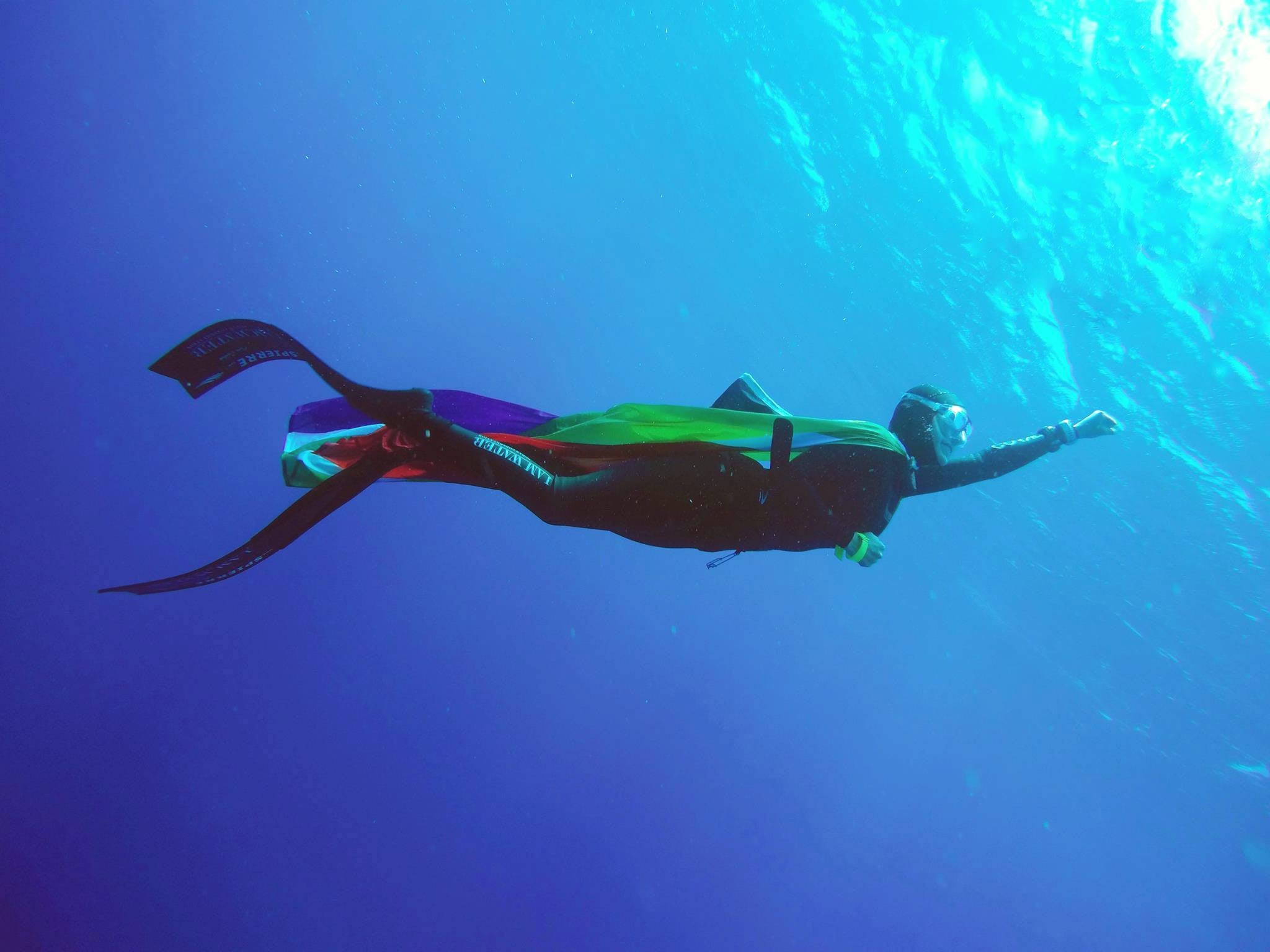 Beth breaks 2 South African freediving records!