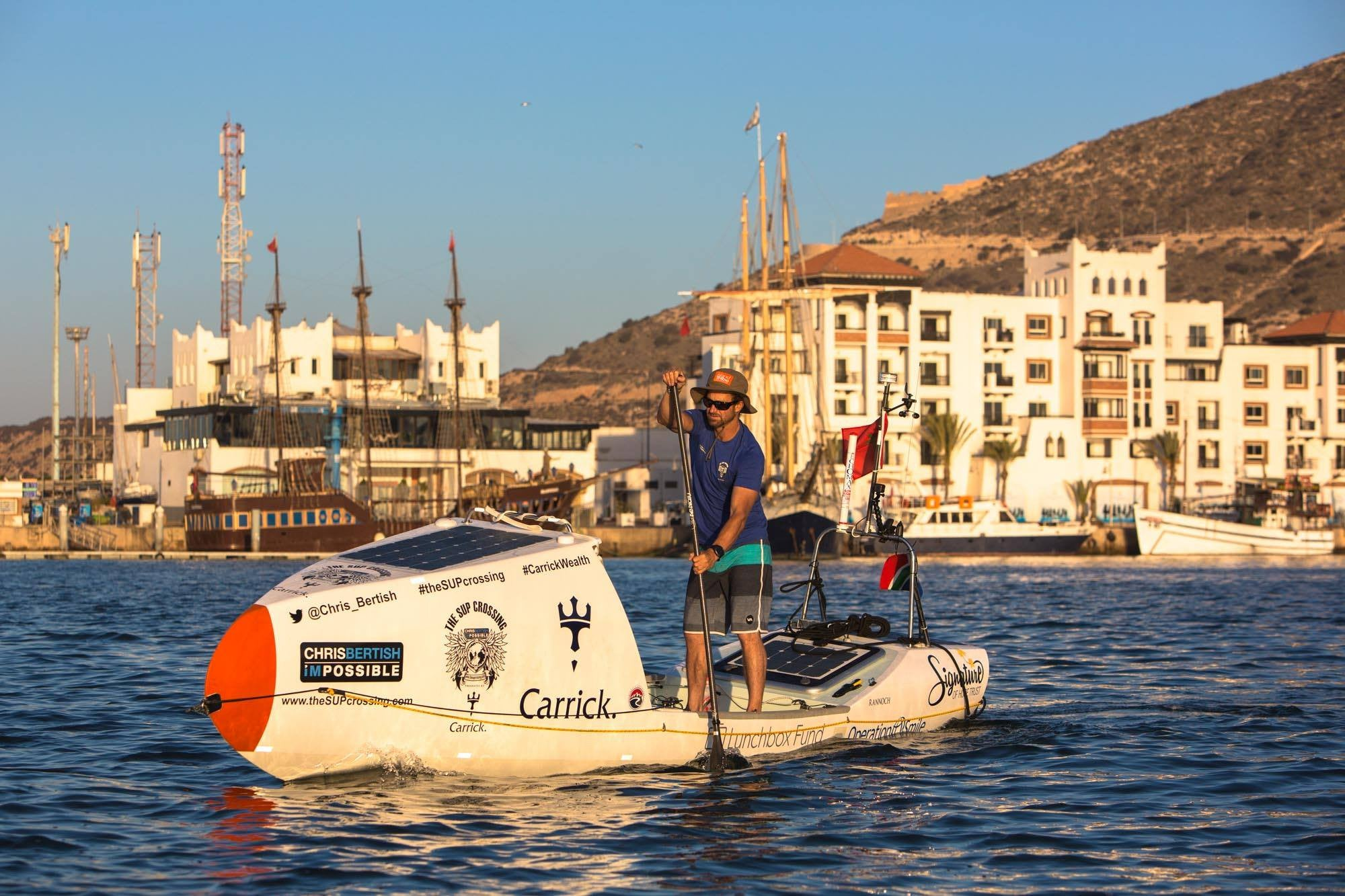 Chris Bertish attempts the first ever, solo, SUP Trans-Atlantic Crossing
