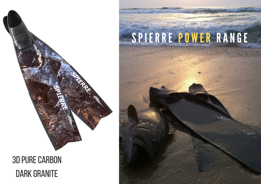 Spierre Dark Granite Pure Carbon Spearfishing Fin Blades