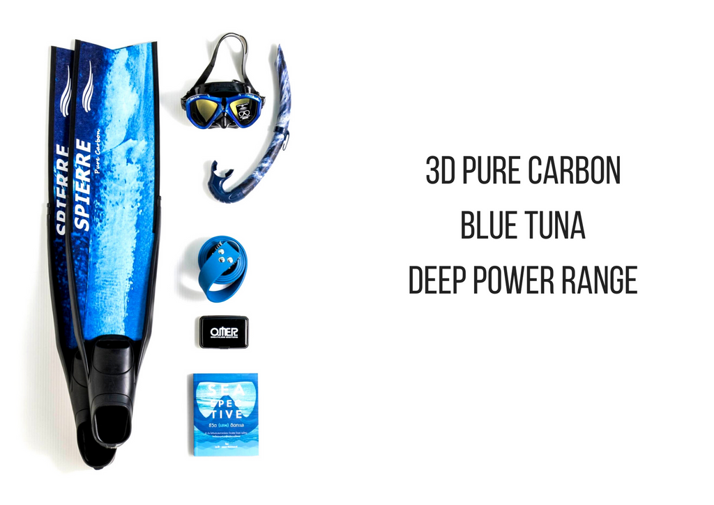 Spierre Blue Tuna Pure Carbon Spearfishing Fin Blades
