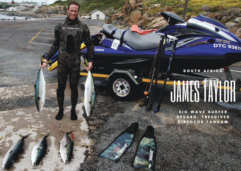 James Taylor, big wave surfer, Spierre Power Range, Spearfishing