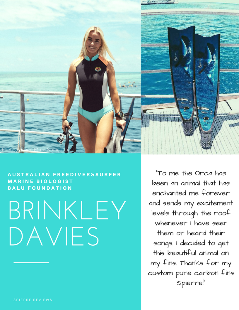 Spierre Custom Handcrafted Pure Carbon fins, Spierre fin Review, Best fins for Searfishing and freediving, Brinkley Davies