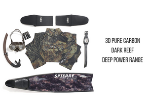 3D Pure Carbon Dark Reef Blades (Deep Power Range)