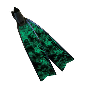 NEW Fiber Composite Green Reef Fin Blades (Power Range) - Spierre