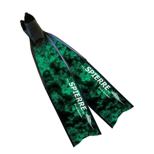 3D Complete Pure Carbon Fin Blades - Dark Green Reef (Power Range) - Spierre