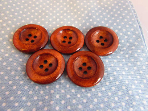 Large Round Wooden Buttons