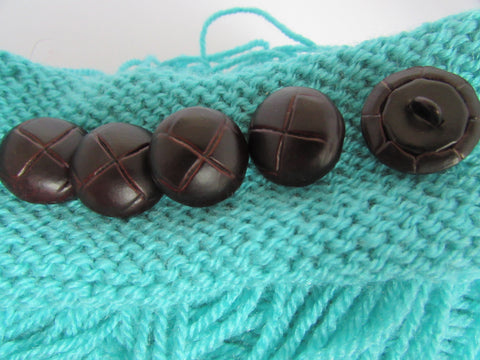 Leather Football Buttons