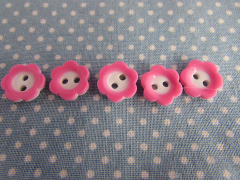 15mm Flower Buttons