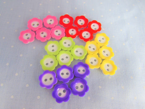 11mm Flower Buttons