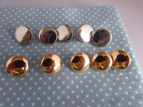Gold or Silver Flat Blazer Buttons