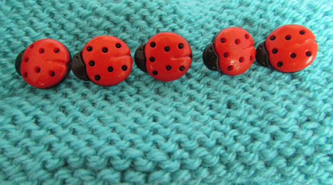Ladybird Shaped Buttons