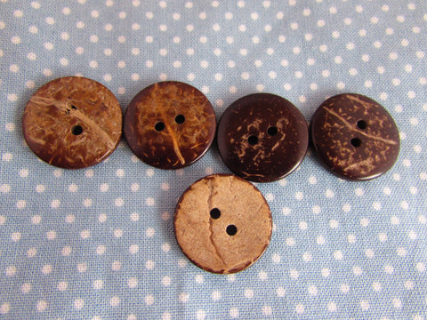 20MM ROUND COCONUT WOOD BUTTONS