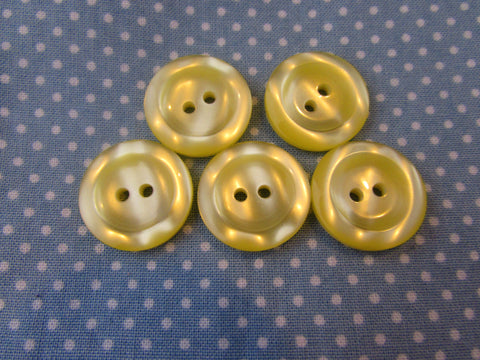 20MM LEMON RIMMED BUTTONS