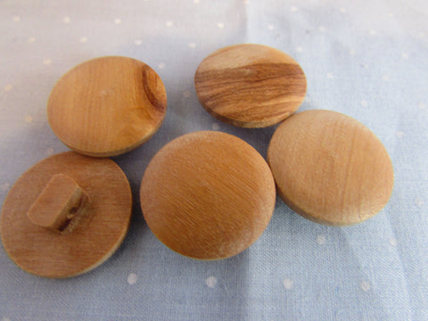 22mm Round Wooden Shank Button
