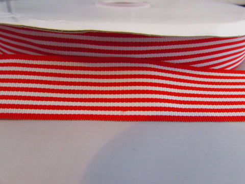 Red and White Horizontal Ribbon