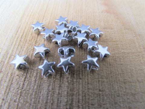 Tibetan Silver Star Spacer Beads