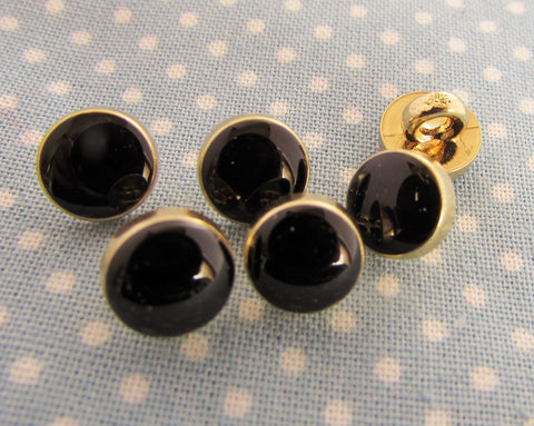 Black and Gold 8mm Dress Shirt Buttons