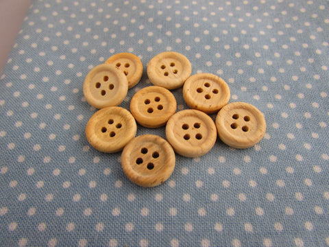 13MM WHITE WOOD BUTTONS