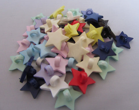 14mm Star Shaped Button Assortment