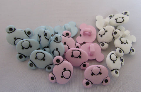 15mm Teddy bear head Buttons