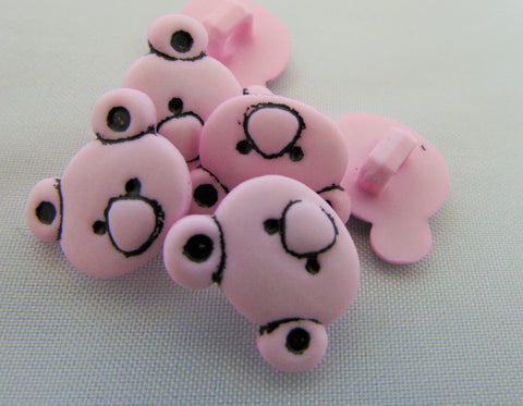 Teddy Bear Head Buttons
