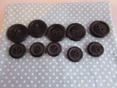 15MM & 20MM BLACK COAT BUTTONS