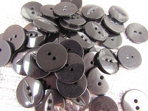 Black Fisheye Buttons
