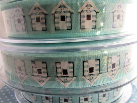 Beach Hut Ribbon Blue