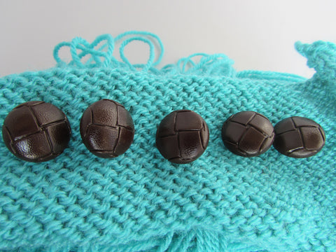 18mm Brown Football Buttons